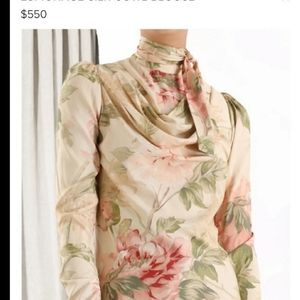 NWT Zimmermann Espionage Cowl blouse